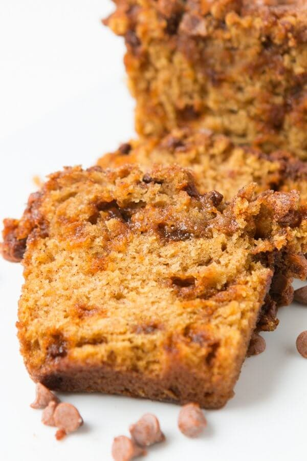 I don't care what day, month or even hour it is, I want this loaded cinnamon chip pumpkin bread for breakfast, lunch and dinner. It's seriously that good. ohsweetbasil.com