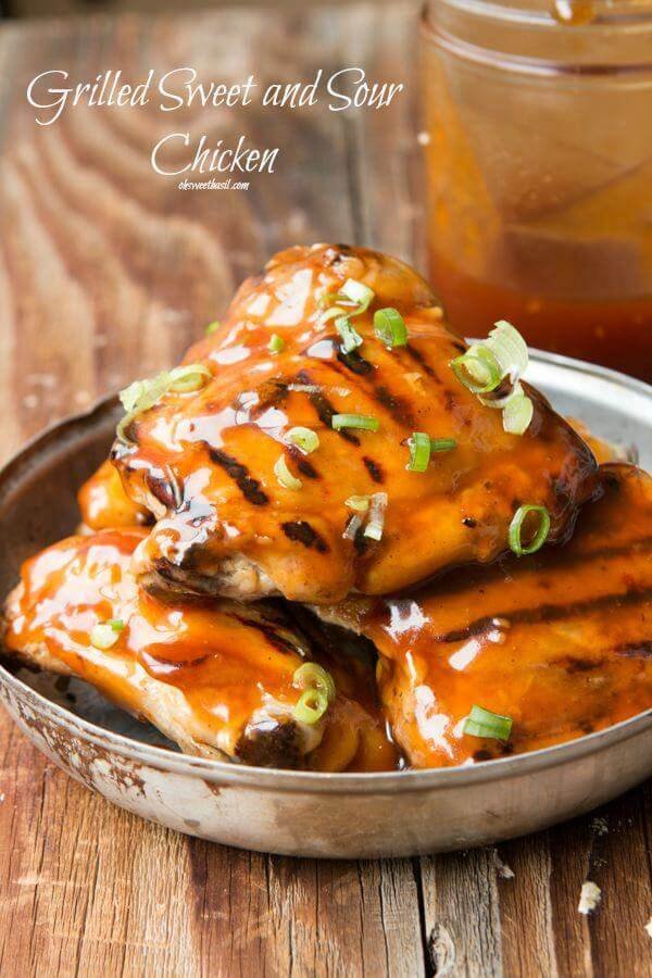 You have to try this grilled sweet and sour chicken! ohsweetbasil.com