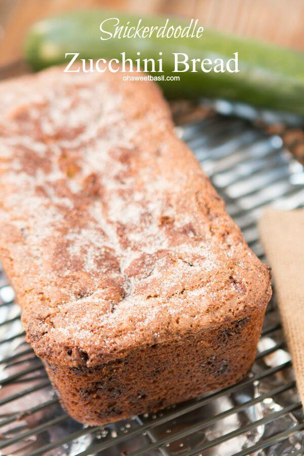 Snickerdoodle Zucchini Bread! ohsweetbasil.com