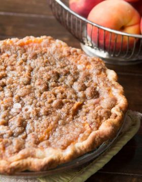 The best pie of the season, sour cream peach pie! ohsweetbasil.com