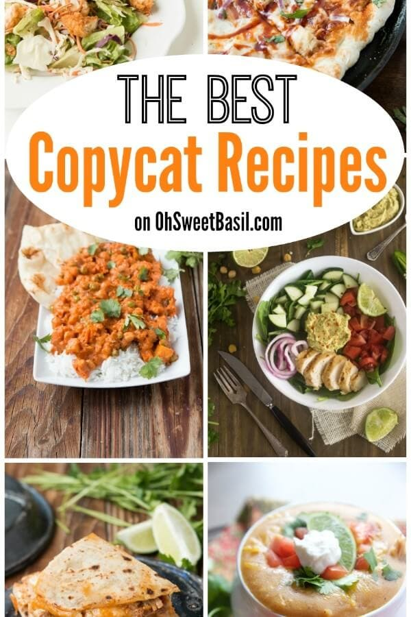 The Best Copycat Recipes from some of your favorite restaurants on OhSweetBasil.com!