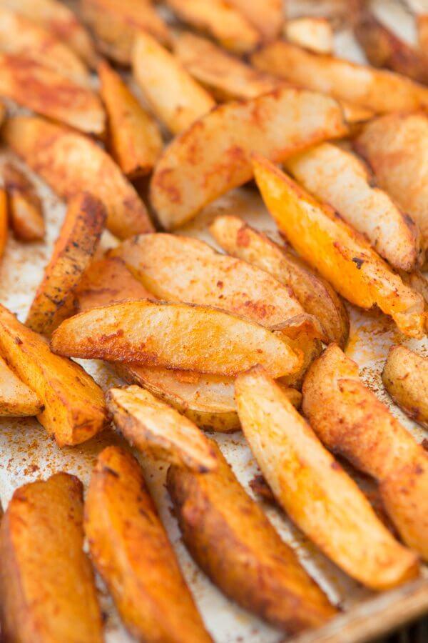 Smoky roasted potato wedges ohweetbasil.com