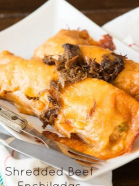 Easy shredded beef enchiladas ohsweetbasil.com
