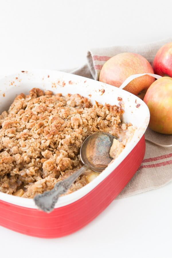 We've tried a lot of recipes out there but this is hands down the best apple crisp recipe we've found and it can totally be made ahead or frozen.