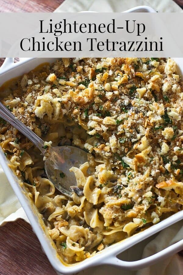 Lightened-Up Chicken Tetrazzini Collage