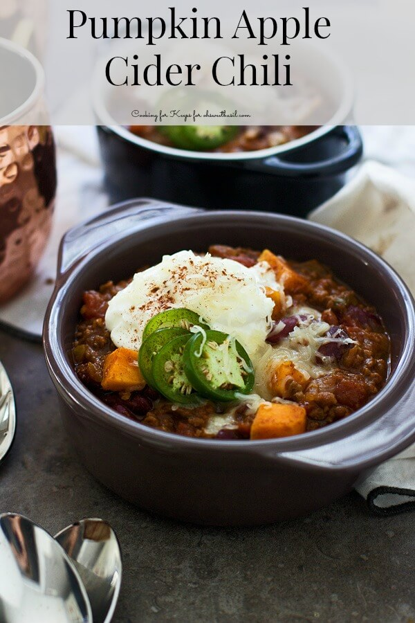 Pumpkin Apple Cider Chili