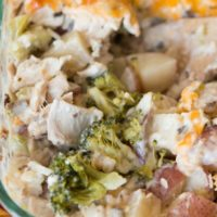 cheesy ranch chicken and potatoes casserole ohsweetbasil.com