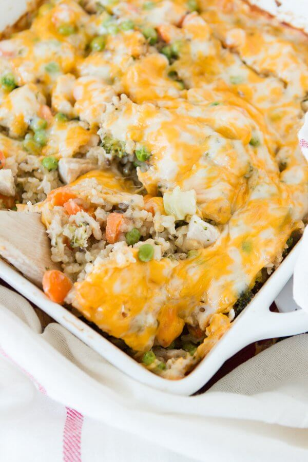 Cheesy Ranch Chicken And Rice Casserole Oh Sweet Basil