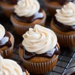 Chocolate Covered Pumpkin Cupcakes
