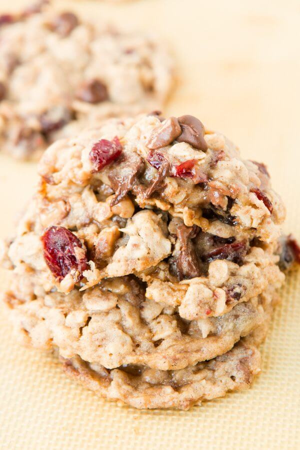 The best cookie of 2015! Craisin Toffee Oatmeal Chippers. Oh my goodness they are good!!! ohsweetbasil.com