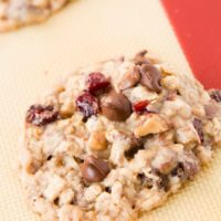 Oh my gosh, these are my new favorite cookies!! Craisin toffee oatmeal chippers! ohsweetbasil.com