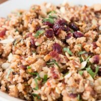 Totally loving this orange cranberry almond rice pilaf this winter. So much flavor and it's easy! ohsweetbasil.com