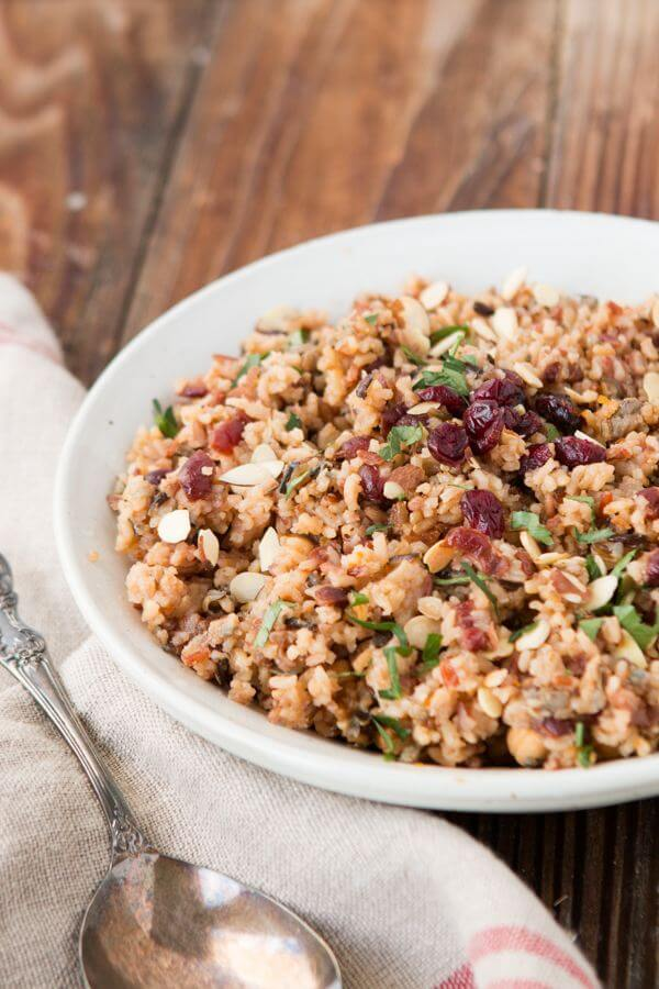 Easy Orange Cranberry Almond Rice Pilaf ohsweetbasil.com