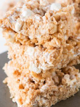 Gooey Fluffernutter Rice Krispies, oh yeah baby ohsweetbasil.com