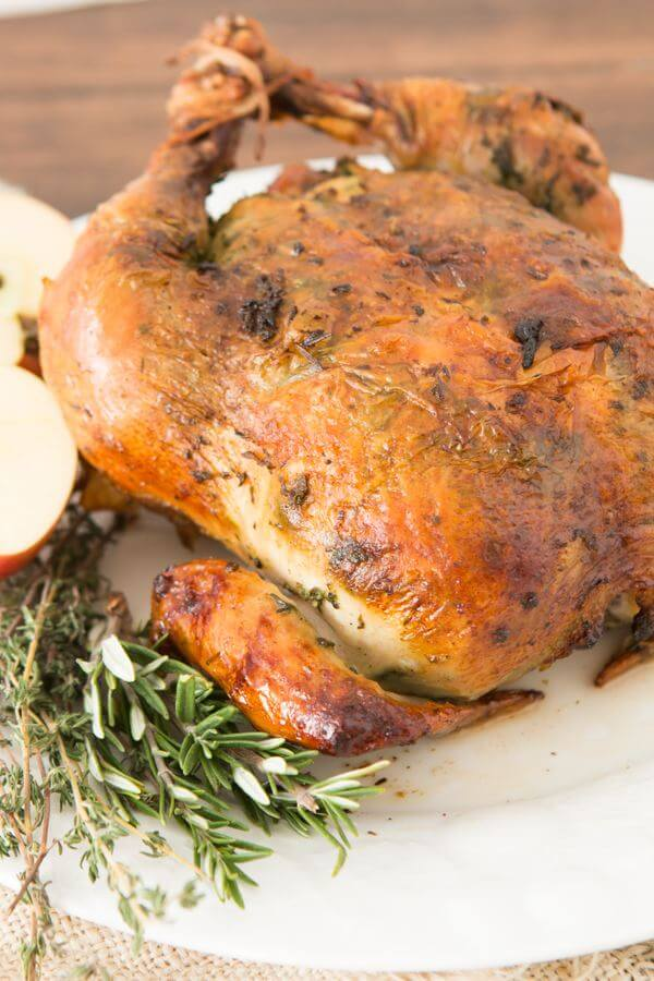 Perfect Herb Roasted Chicken ohsweetbasil.com