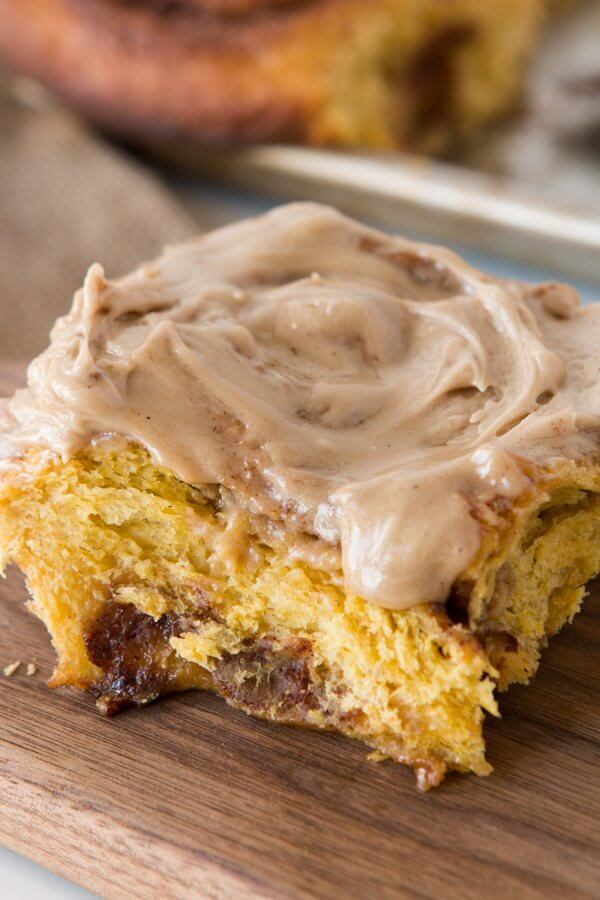 It isn't fall without pumpkin and maple, am I right? The next family gathering should include our maple glazed pumpkin pie cinnamon rolls for sure! ohsweetbasil.com