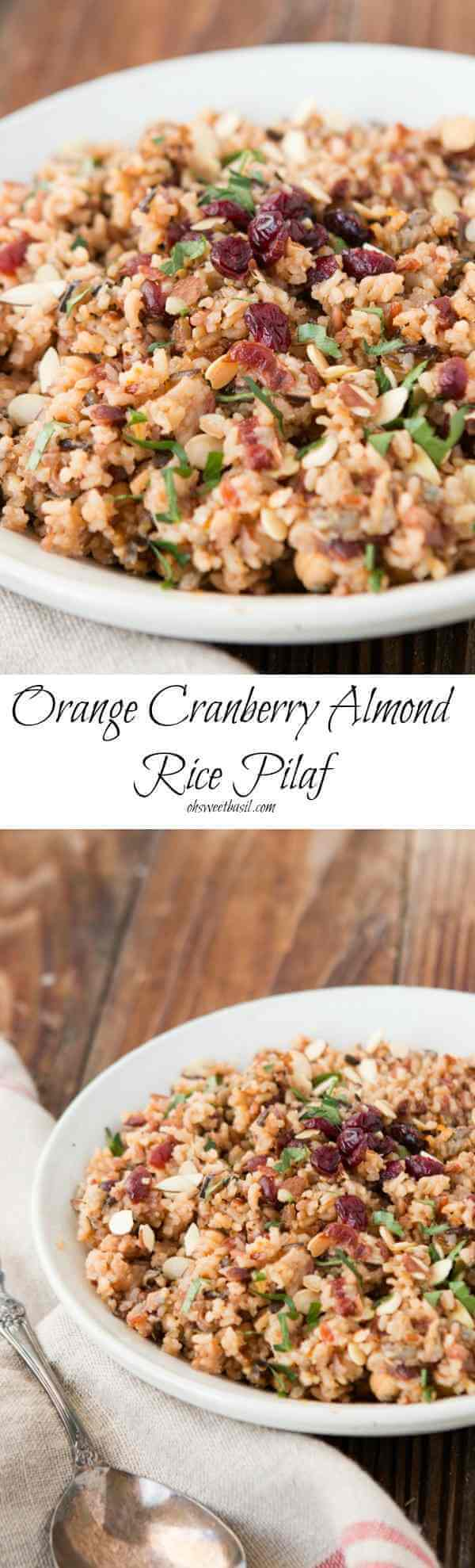 ... of cake to make! Orange Cranberry Almond Rice Pilaf ohsweetbasil.com