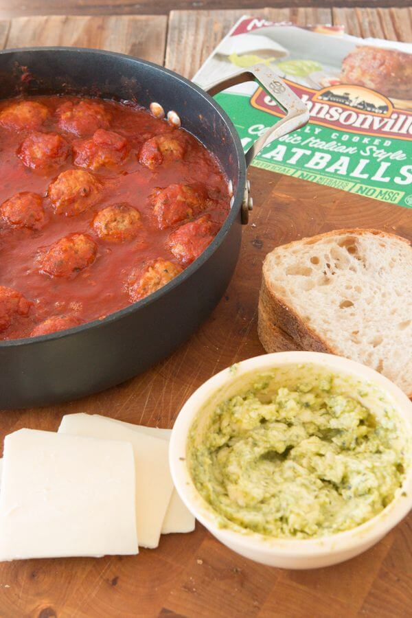 It's like a mashup between your favorite meatball sub and that classic chicken panini- the pesto meatball panini and it's what's for dinner! Italian sausage
