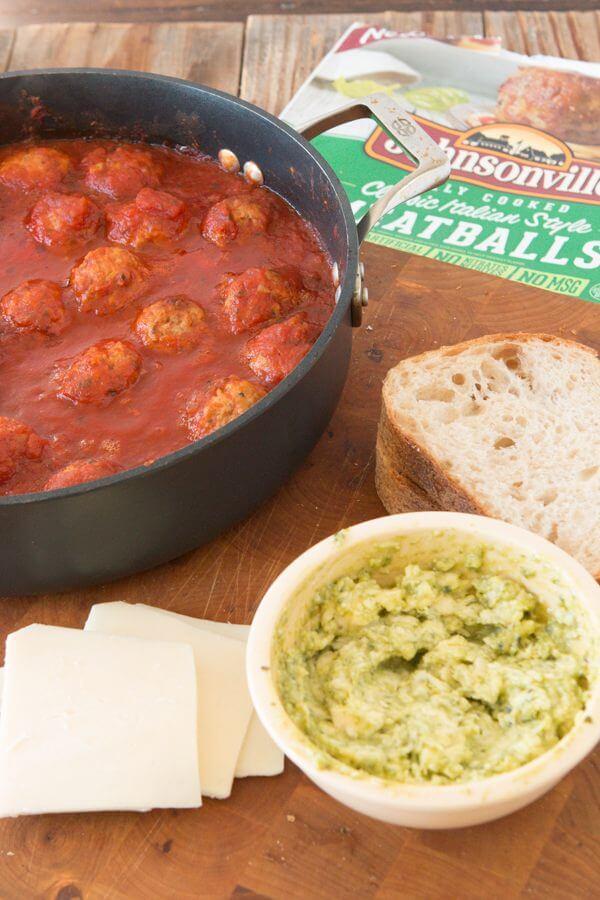 pesto meatball panini ohsweetbasil.com