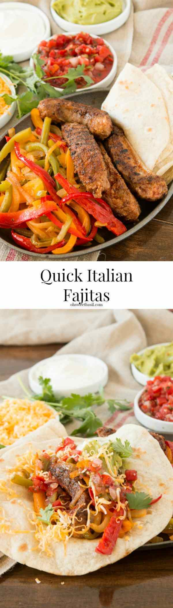We absolutely loved how these Italian Sausage Fajitas turned out! ohsweetbasil.com
