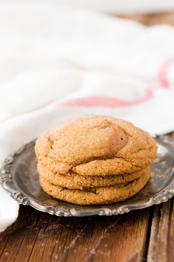 Soft and Fluffy Molasses Cookies, the award winning recipe ohsweetbasil.com