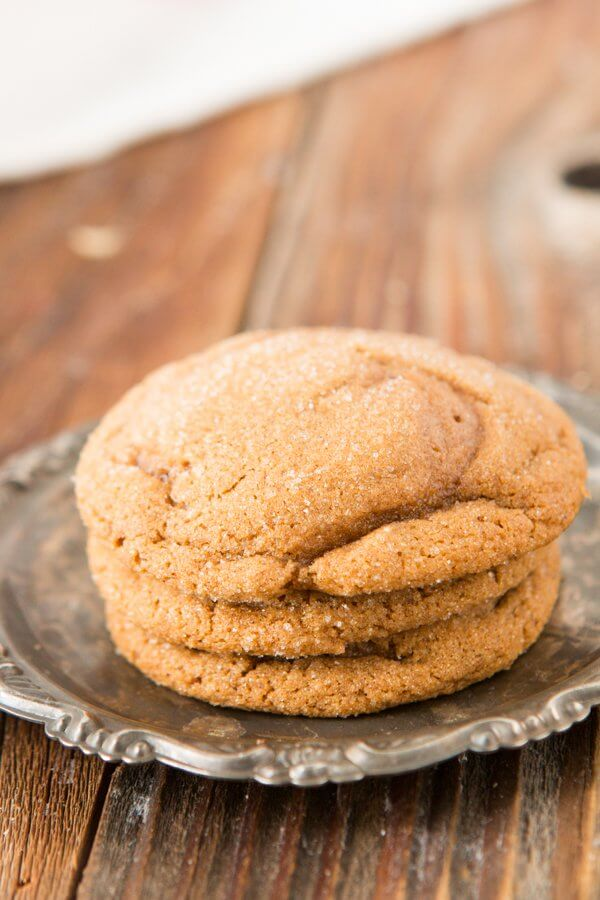 The BEST recipe I've ever made for soft and fluffy molasses cookies ohsweetbasil.com