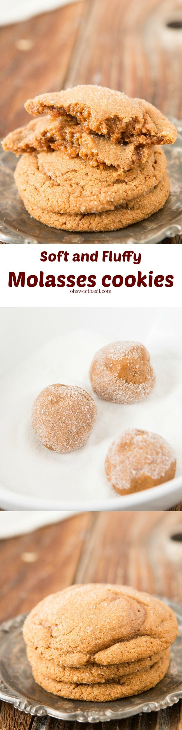 The #1 recipe for soft and fluffy molasses cookies ohsweetbasil.com