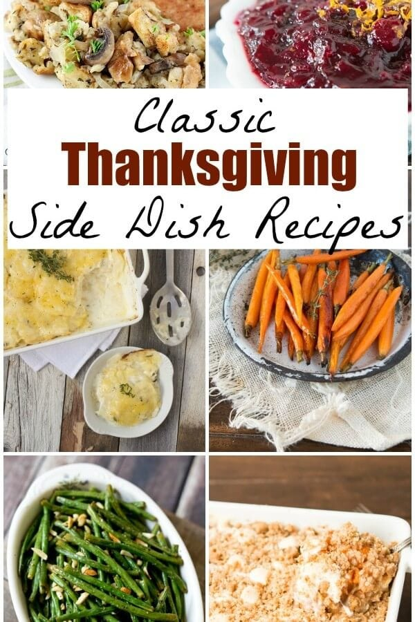 Classic Thanksgiving Side Dish Recipes on OhSweetBasil including potatoes, casserole, roasted vegetables and more!