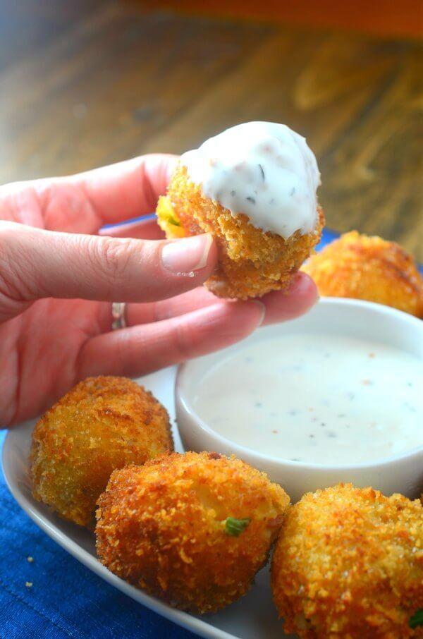 Cheesy Loaded Potato Bombs