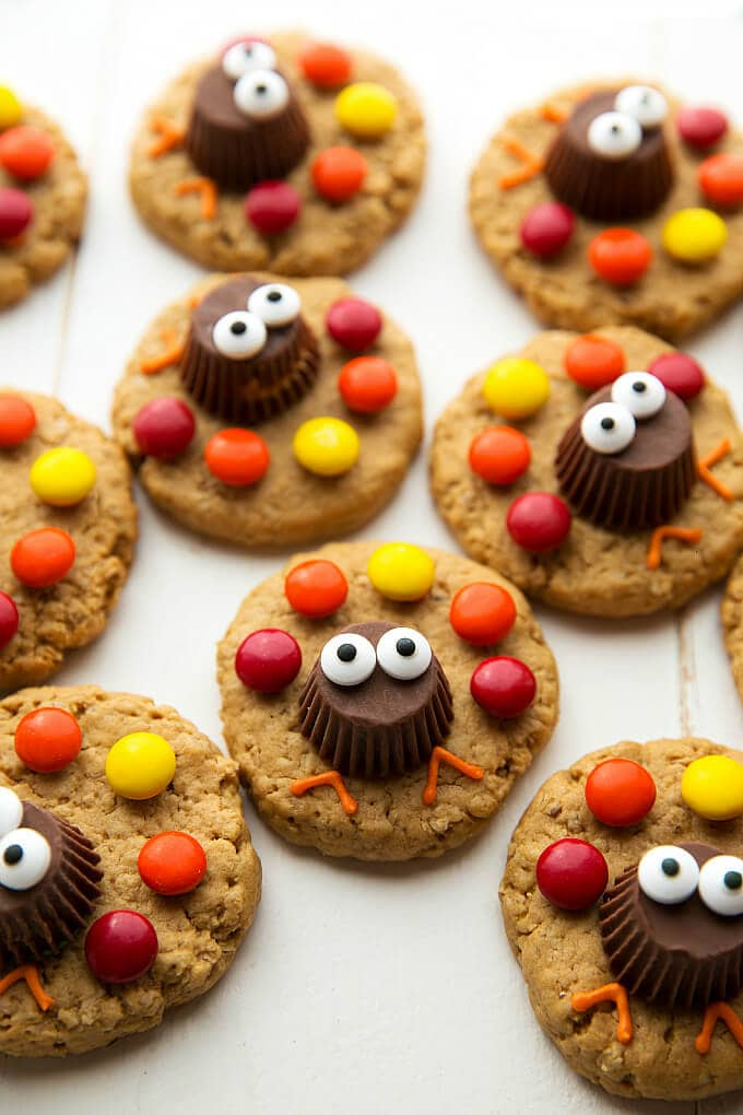 Turkey Peanut Butter Cookies