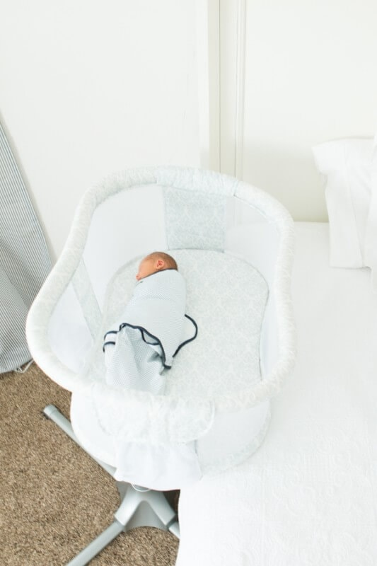 The best bassinet and it brings baby clear up over the bed and next to mom ohsweetbasil.com
