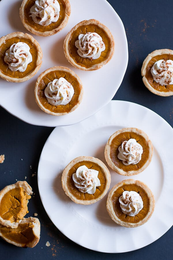 Mini Pumpkin Pies are cute little portions of the beloved Thanksgiving pumpkin pie.