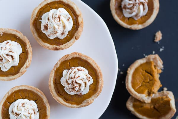 plate of Mini Pumpkin Pies