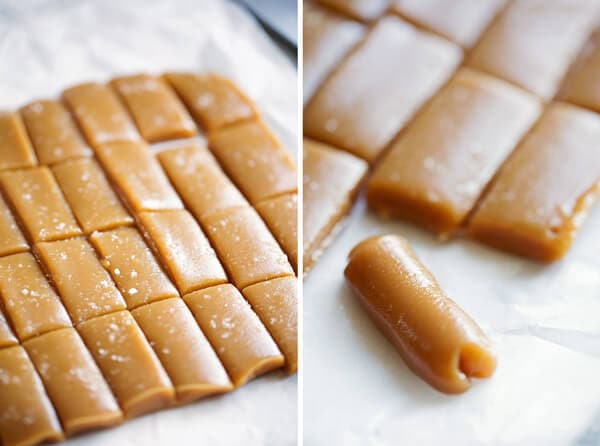 Easy 6-Minute Microwave Caramels. These sweet little caramel chews are sprinkled with sea salt and have the most delicious salty-sweet flavor and are perfect for gift giving during the holidays!