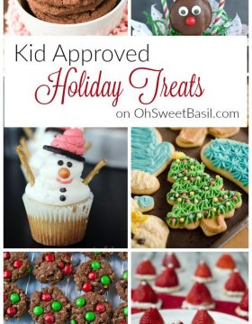 Kid Approved Holiday Treats on OhSweetBasil.com including Christmas cookies, cupcakes and more!