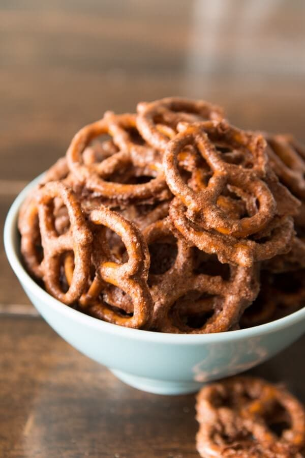 Candied nuts are such a favorite during the winter months, but we just made candied pretzels and oh my goodness they are good!!