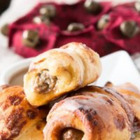 Oh, mama! We made these cinnamon roll pigs in a blanket dunkers for breakfast the other day and it's our new go to breakfast!
