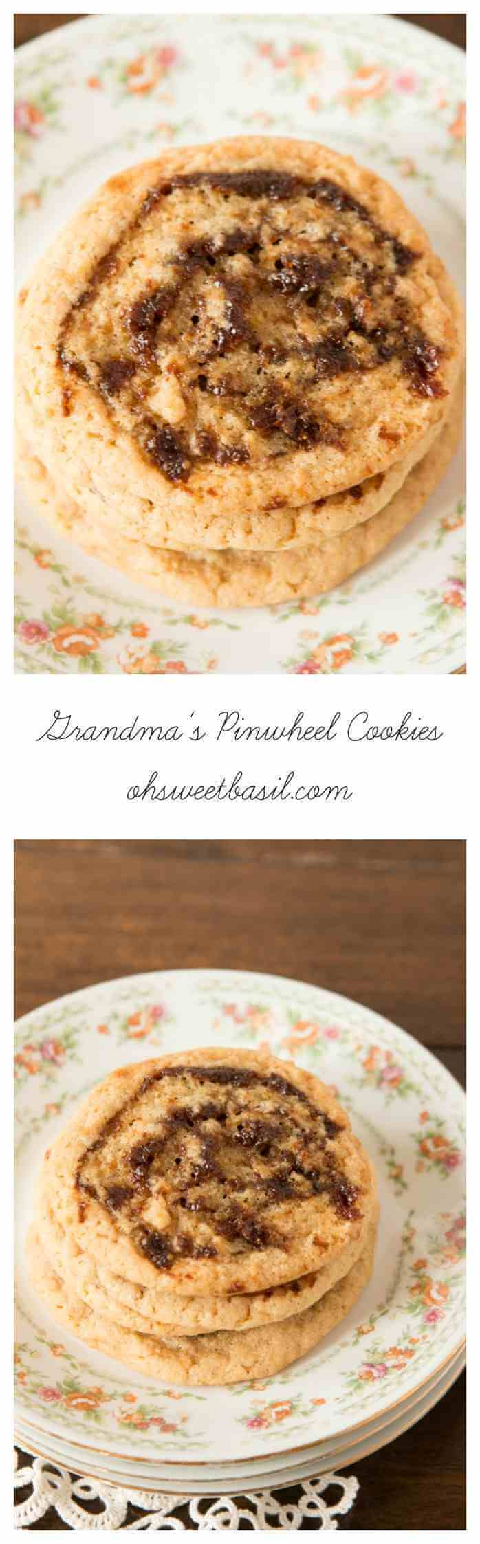 A holiday tradition, Grandma's famous pinwheel cookies ohsweetbasil.com