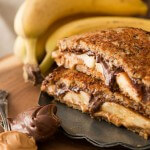 Grilled Nutella Peanut Butter and Banana Sandwich ohsweetbasil.com