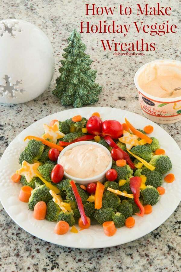 How to make holiday veggie wreaths ohsweetbasil.com