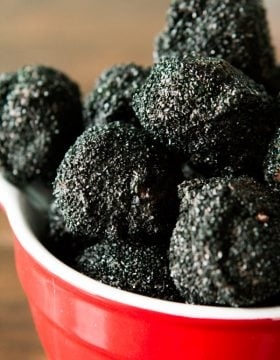 Lumps of coal oreo truffles are great for neighbor gifts! ohsweetbasil.com