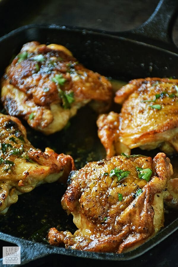 Pan-Roasted Chicken in Herb Butter Sauce | by Life Tastes Good