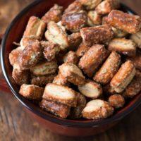 Quick Parmesan Herb Pretzel Nibblers ohsweetbasil.com