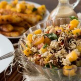 Pork polynesian salad is becoming our favorite dinner even for the kids! ohsweetbasil.com