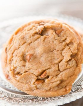 Our kids are in love with these cinnamon chip pumpkin spice cookies fresh from the oven and your kids will too once they try them!