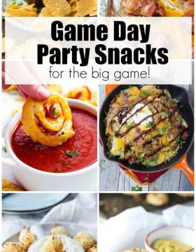 The best Game Day Party Snacks for the big game!
