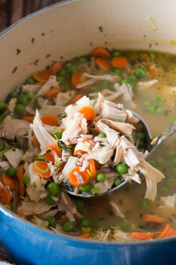 Chicken Wild Rice Soup With Leeks Oh Sweet Basil