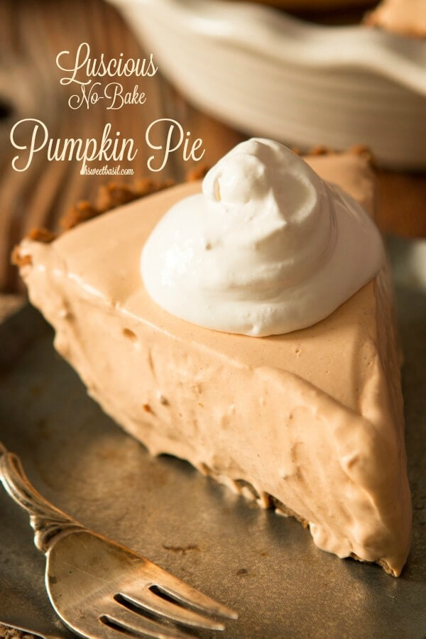 No bake pumpkin pie with gingersnap crust has become the most asked for recipe around the holidays and once you try it you'll know why!