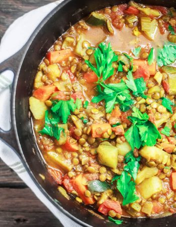 One-Pot Vegetable and Lentil Recipe. A vibrant, flavor-packed vegetable and lentils dinner made Mediterranean-style. Ready in less than one hour!