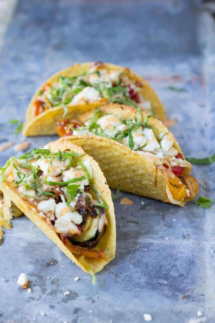 vegetarian tacos ohsweetbasil.com